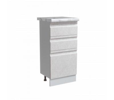 СКАЛА СМЯ-400 шкаф нижний с 3 ящиками метабокс