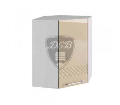 КАПЛЯ 3D ПУ-550х550 угловой навесной шкаф