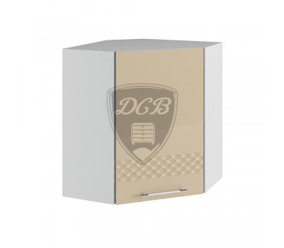 КАПЛЯ 3D ПУ-600х600 угловой навесной шкаф