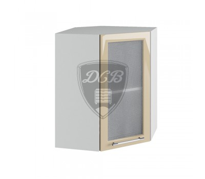 КАПЛЯ 3D ПУС-550х550 угловой навесной шкаф со стеклом