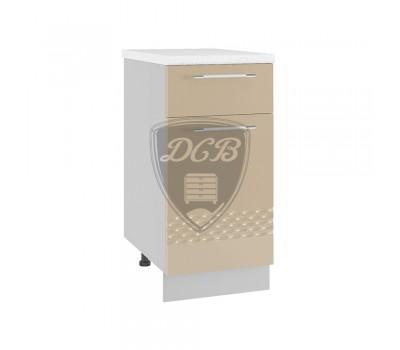 КАПЛЯ 3D С1Я-400 шкаф нижний с 2 ящиками