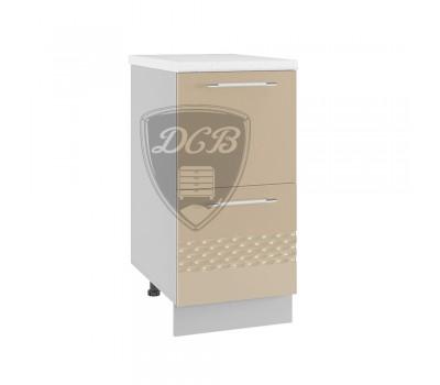 КАПЛЯ 3D СК2-400 шкаф нижний комод (2 ящика)