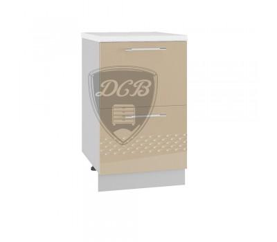 КАПЛЯ 3D СК2-500 шкаф нижний комод (2 ящика)