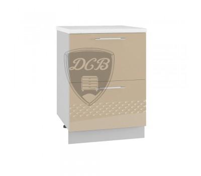 КАПЛЯ 3D СК2-600 шкаф нижний комод (2 ящика)