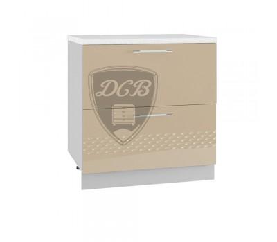 КАПЛЯ 3D ШНК2-800 шкаф нижний комод (2 ящика)