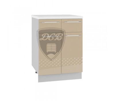 КАПЛЯ 3D ШН2Я-600 шкаф нижний с 2 ящиками