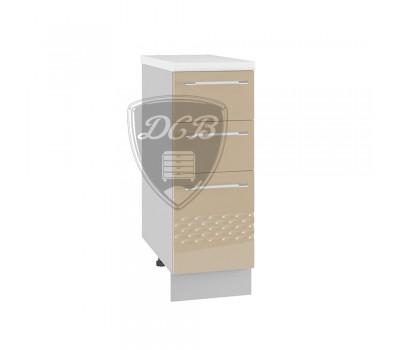 КАПЛЯ 3D СЯ-300 шкаф нижний с 3 ящиками