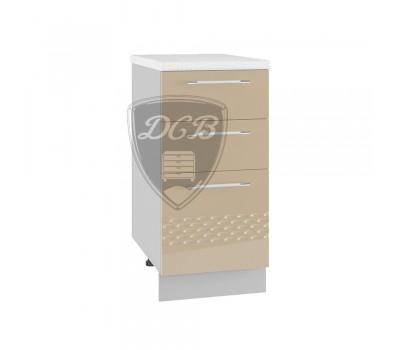 КАПЛЯ 3D СЯ-400 шкаф нижний с 3 ящиками