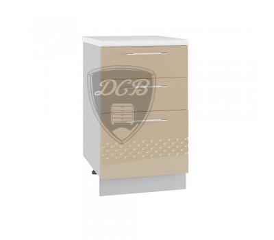 КАПЛЯ 3D ШНЯ-500 шкаф нижний с 3 ящиками