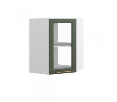 КВАДРО ВПУС-550 угловой навесной шкаф со стеклом
