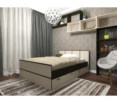 ВЕСНА Кровать с ящиками 1,4 м ДСВ
