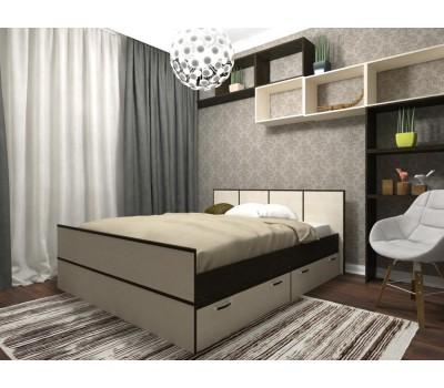 ВЕСНА Кровать с ящиками 1,6 м ДСВ