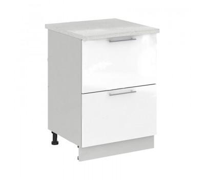 Олива СК2-600 шкаф нижний комод (2 ящика)