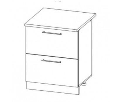 РОЙС СК2-600 шкаф нижний комод (2 ящика)