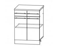 МАША ШН2Я-600 шкаф нижний с 2 ящиками