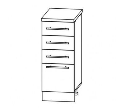 МАША ШНЯ-300 шкаф нижний с 3 ящиками