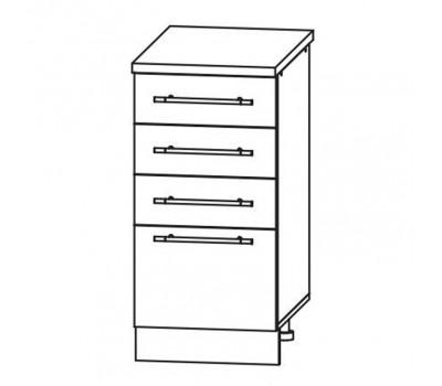 МАША ШНЯ-400 шкаф нижний с 3 ящиками