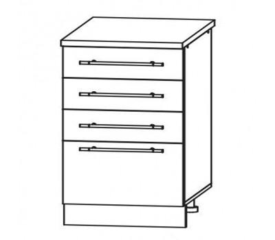РОЙС ШМЯ-600 шкаф нижний с 3 ящиками метабокс