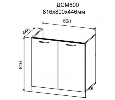 ДУСЯ ДСМ-800 шкаф нижний для мойки