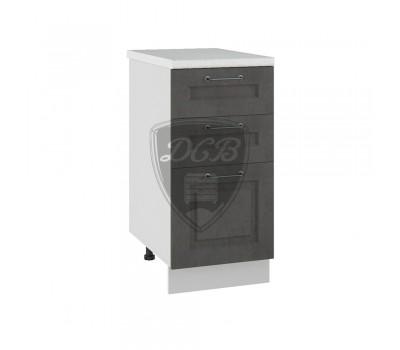 КАПРИ ДСВ ШНЯ-400 шкаф нижний с 3 ящиками