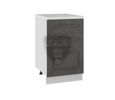 КАПРИ ДСВ ШНЯ-500 шкаф нижний с 3 ящиками