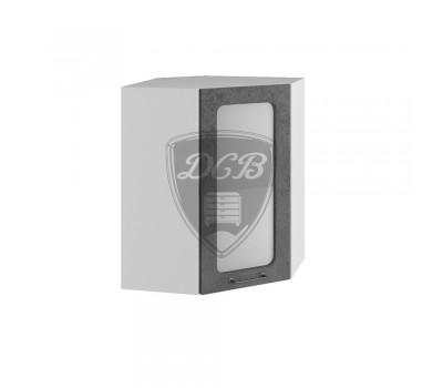 ЛОФТ ПУС-550 угловой навесной шкаф со стеклом