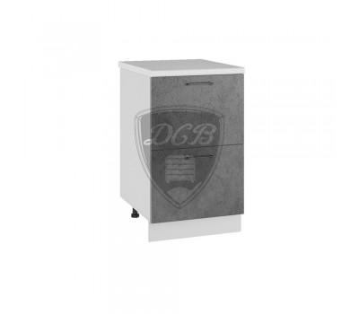 ЛОФТ СК2-500 шкаф нижний комод (2 ящика)