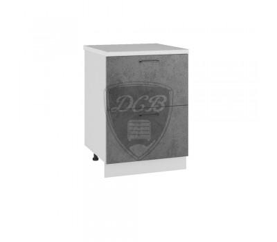 ЛОФТ ШНК2-600 шкаф нижний комод (2 ящика)