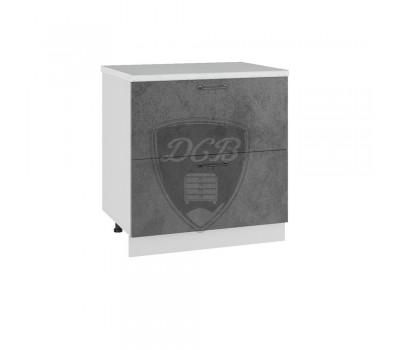 ЛОФТ ШНК2-800 шкаф нижний комод (2 ящика)