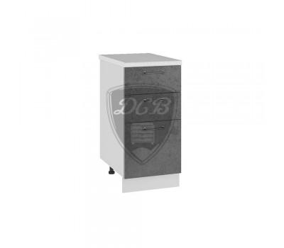 ЛОФТ ШНЯ-400 шкаф нижний с 3 ящиками