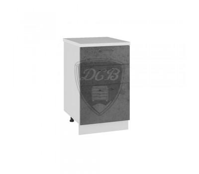 ЛОФТ СЯ-500 шкаф нижний с 3 ящиками