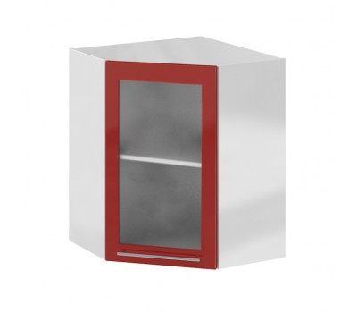 Олива ПУС-550х550 угловой навесной шкаф со стеклом