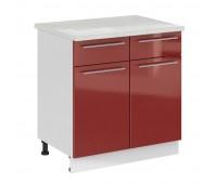 Олива ШН2Я-800 шкаф нижний с 2 ящиками