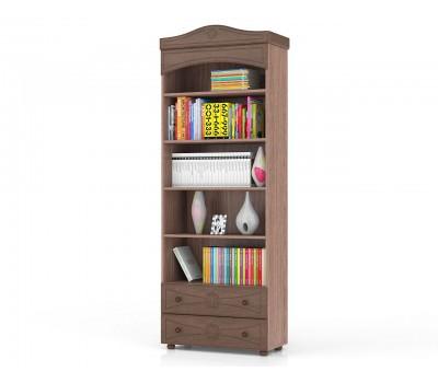 Онега шкаф книжный открытый с 2 ящиками ШК-36
