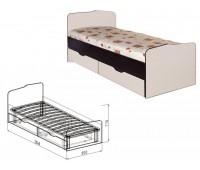"""Кровать 0,8 с ящиками №23 """"Статус"""""""