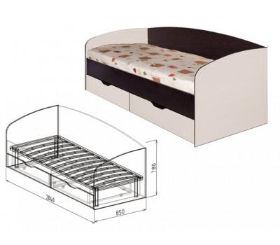 """Кровать 0,8 с ящиками №24 """"Статус"""""""