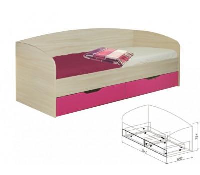 """Кровать с ящиками №10 """"Акварель"""""""
