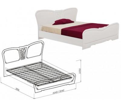 """Кровать с основанием №1 """"Тиффани"""" 1600 мм"""
