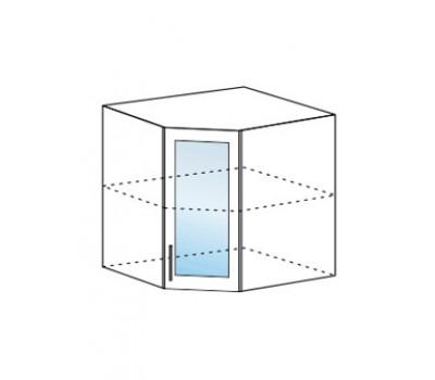 МАРИЯ ШВУС-600 угловой навесной шкаф со стеклом