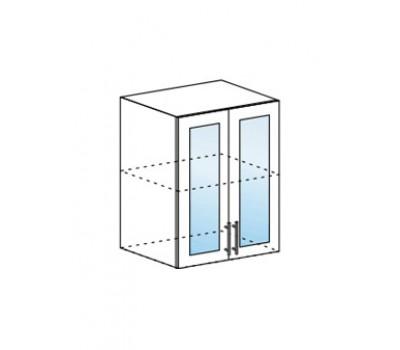 МОДЕНА МДФ ШВС-600 шкаф навесной со стеклом