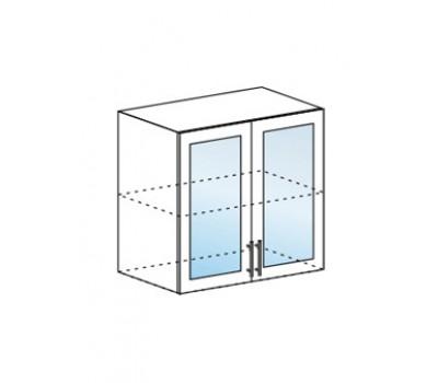 Ксения ШВС-800 шкаф навесной со стеклом