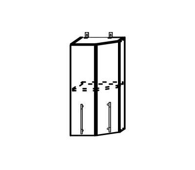 ОПЕРА ПТ-400 шкаф верхний торцевой
