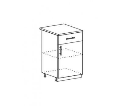 Лира МДФ ШН1Я-500 шкаф нижний с ящиком