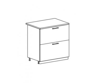 ЮЛИЯ ШН2Я-800 шкаф нижний с 2 ящиками