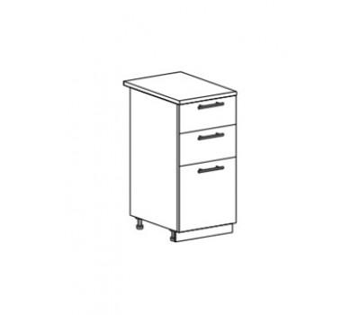 ЮЛИЯ ШН3Я-400 шкаф нижний с 3 ящиками