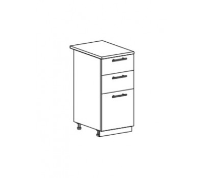 МАРИЯ ШН3Я-400 шкаф нижний с 3 ящиками