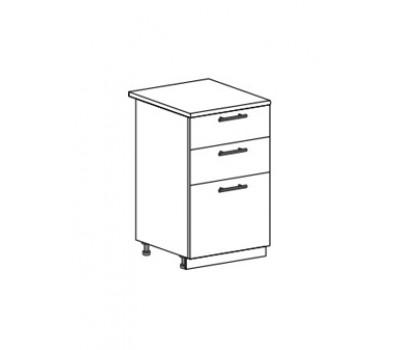 ЮЛИЯ ШН3Я-500 шкаф нижний с 3 ящиками