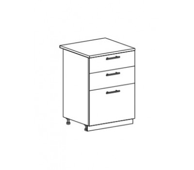ДЖУЛИЯ ШН3Я-600 шкаф нижний с 3 ящиками