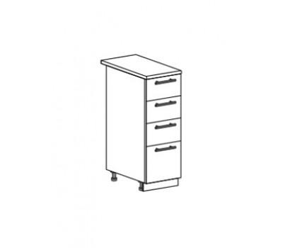 МАРИЯ ШН4Я-300 шкаф нижний с 4 ящиками
