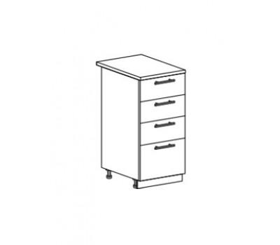 ДЖУЛИЯ ШН4Я-400 шкаф нижний с 4 ящиками